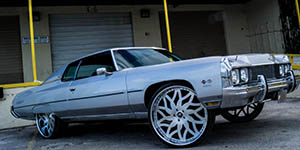 Amani Forged VITO wheels on a '73 Caprice