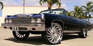Amani Forged VORNADO wheels on a '73 Caprice