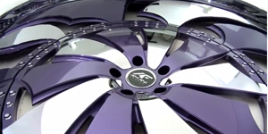 DELO Purple and Chrome Wheel Feature