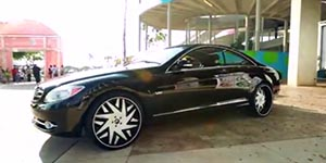 Amani Forged Forziano on Mercedes Benz CL600 at Miami Auto Fest