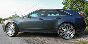 Amani Forged VITO wheels on Cadillac CTS Wagon