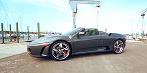Amani Forged VORENZO wheels on a Ferarri F430 Spyder