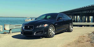 Amani Forged DELO wheels on a Jaguar XFR