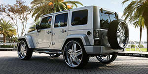 Amani Forged Tesla on a Jeep Wrangler Unlimited