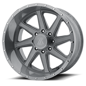 Asanti Wheels - AB814 Windmill Titanium Brushed 8 lug
