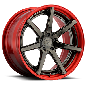 Asanti Wheels - TL100 Machined Red w/ Gloss Bronze Face 5 lug