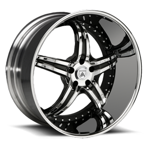 Asanti Wheels - ELT144 Chrome with Black Inserts 5 lug