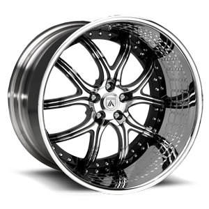 Asanti Wheels - ELT150 Black with Engrave Lip 5 lug