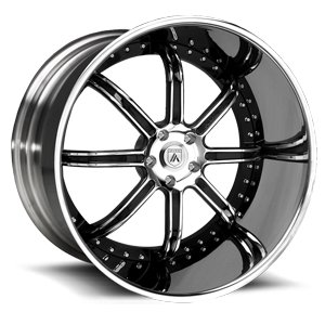Asanti Wheels - ELT406 Chrome w/ Black Inserts 5 lug