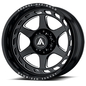 Asanti Wheels - AB816 Anvil Gloss Black Milled 8 lug
