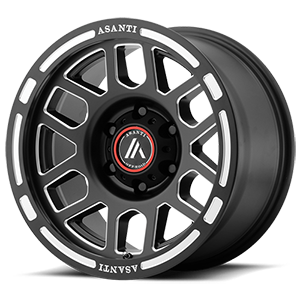 Asanti Wheels - AB812 Claymore Satin Black Milled 6 lug