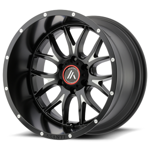 Asanti Wheels - AB807 Carbine Satin Black Milled 6 lug