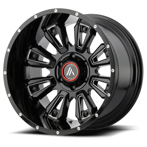 Asanti Wheels - AB808 Blackhawk Gloss Black Milled 6 lug