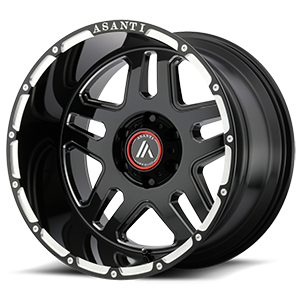 Asanti Wheels - AB809 Enforcer Gloss Black Milled 6 lug