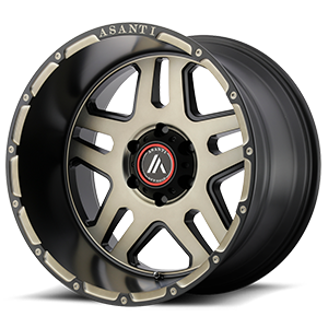 Asanti Wheels - AB809 Enforcer Matte Black Machined w/ Tinted Clear 6 lug