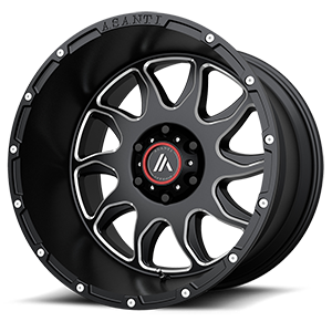 Asanti Wheels - AB810 Ballistic Gloss Black Milled 6 lug
