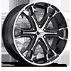 Liquidmetal Wheels - Coil Black Machined