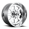 FF09D - 8 Lug Super Single Front Polished