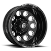 FF31D - 10 Lug Rear Gloss Black & Milled