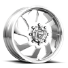 FF39D - 8 Lug Front Polished - 22x8.5