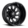 FF39D - 10 Lug Rear Gloss Black & Milled