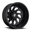 FF39D - 10 Lug Rear Matte Black w/ Chrome Logo