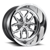 FF45 - 5 Lug Brushed Face w/ Anthracite Windows / Polished Lip