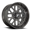 FF58 - 8 Lug Brushed Candy Black & Milled