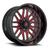 Ignite - D663 22x12 | Gloss Black w/ Candy Red
