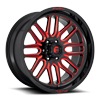 Ignite - D663 22x10 ET-18 | Gloss Black w/ Candy Red