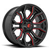 Rage - D712 Gloss Black w/ Candy Red