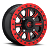Hardline - D911 Beadlock (Lightweight Ring) Gloss Black w/ Candy Red