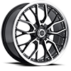 Liquidmetal Wheels - Wire Black Machined