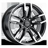 Liquidmetal Wheels - Splice Gloss Metallic Black