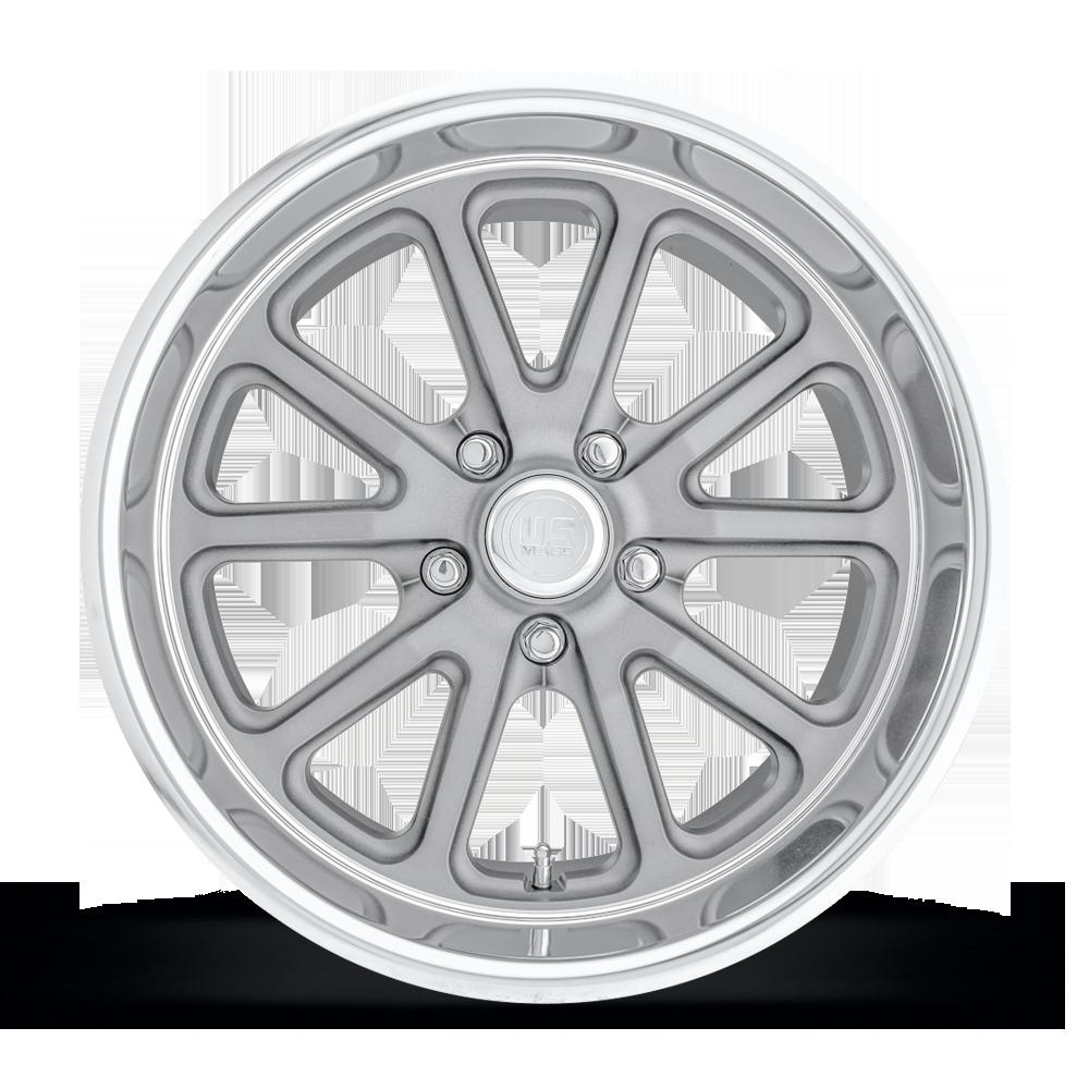 "1mm Textured Grey Wheel Rim 18/"" Inch US Mags U111 Rambler 18x8 5x4.75/"""