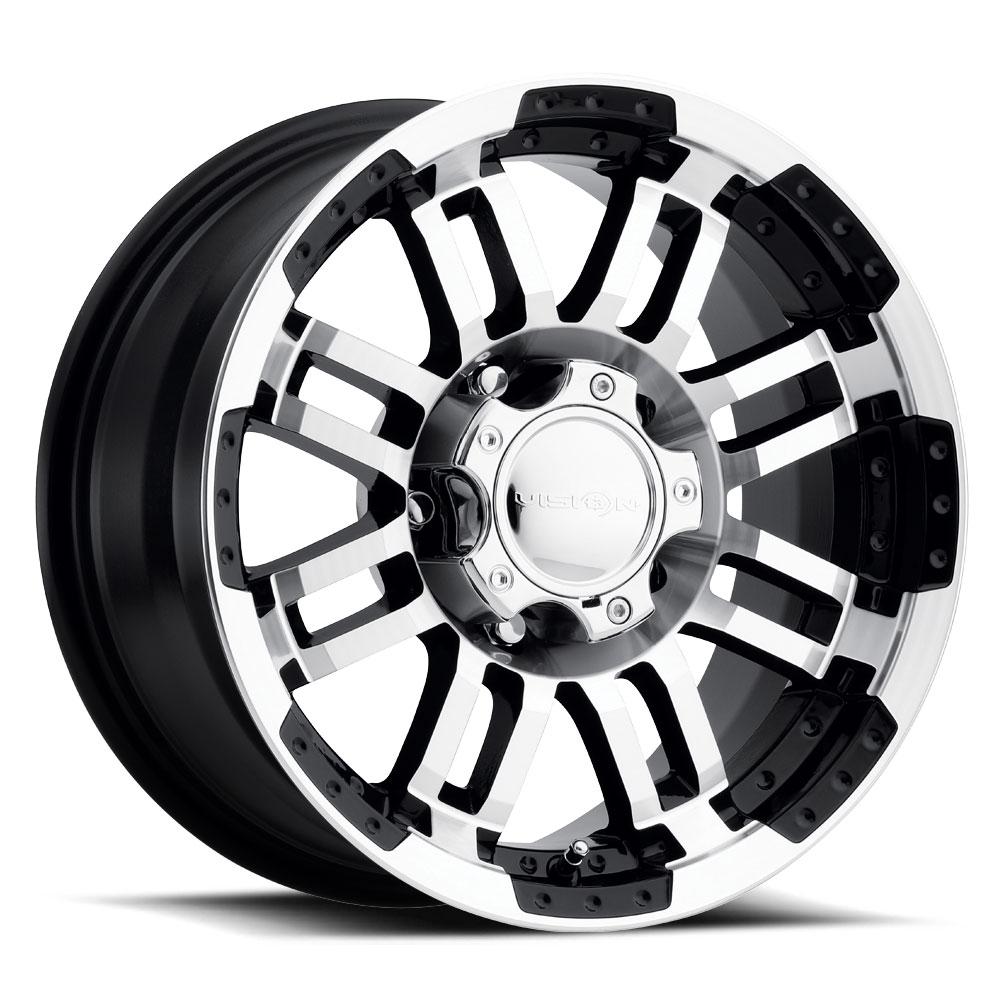 One  17X8 Vision 84 Vision 5x127 ET-12 Black Wheel
