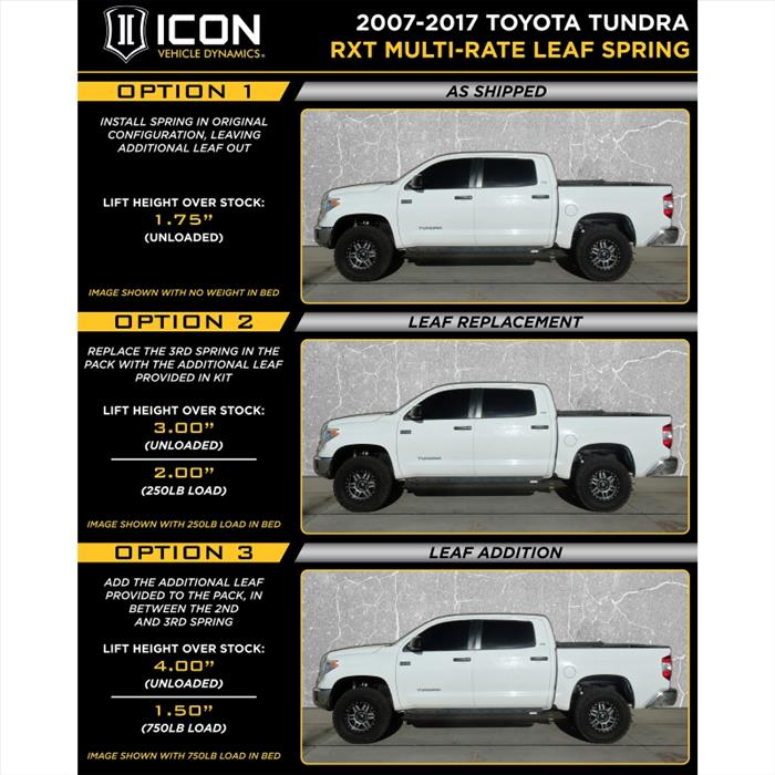 07-UP TUNDRA RXT STAGE 1 SYSTEM