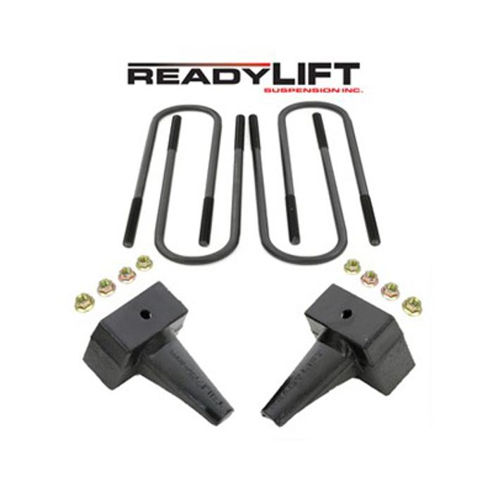 ReadyLift Ford F-250, F-350, F-450 Super Duty 4 in. Rear Block Kit - for 2-piece drive shaft