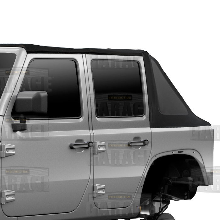 BSH Trial Armor Soft Top Fastback - Closed