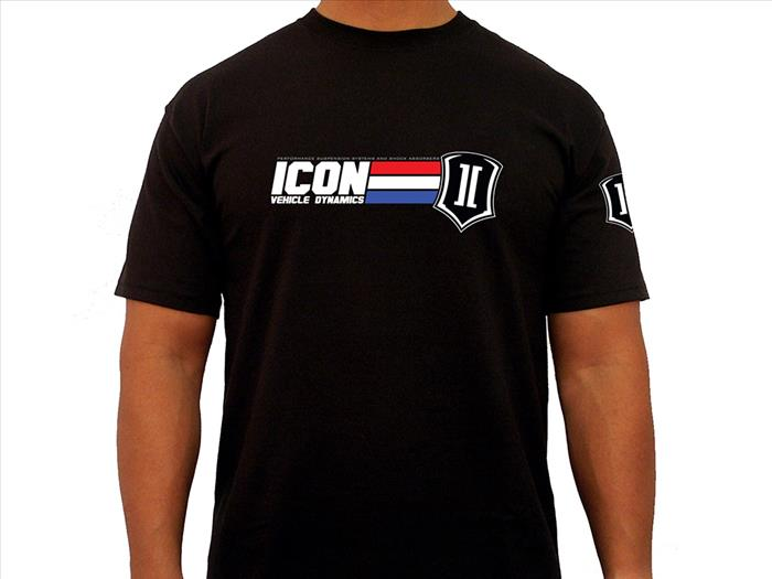 ICON GI TEE BLACK - XXXLARGE
