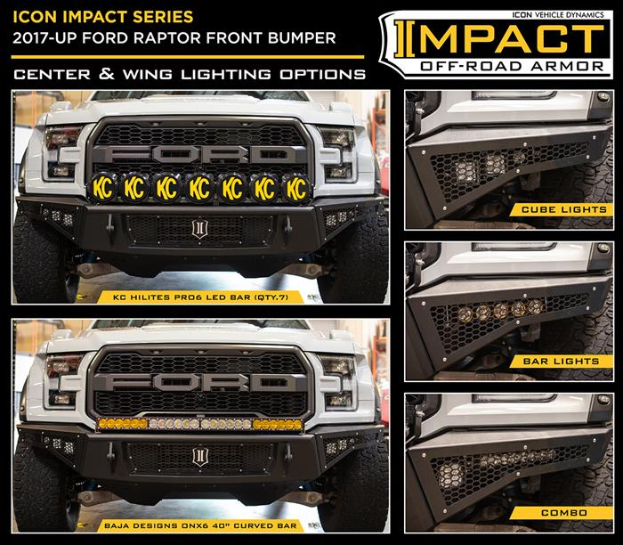 17-UP RAPTOR FRONT IMPACT BUMPER W SKID