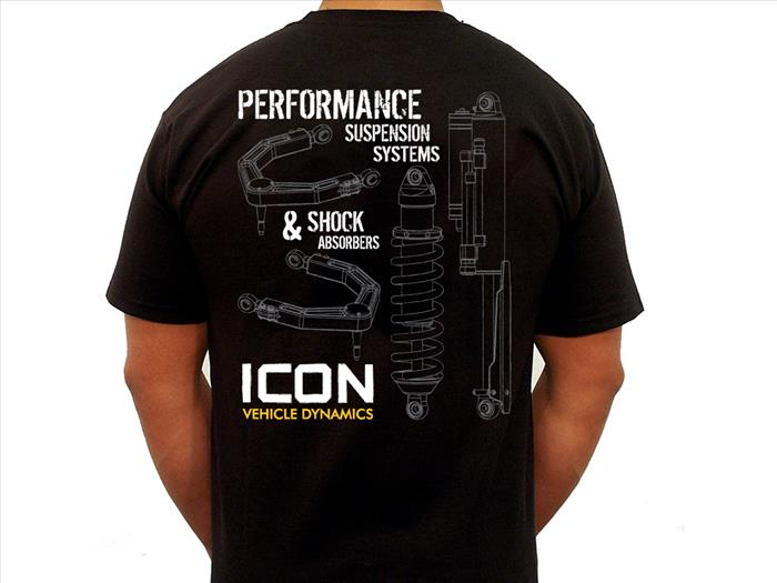 ICON RD TEE BLACK - SMALL