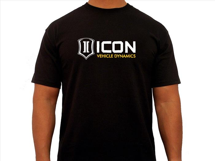 ICON RD TEE BLACK - LARGE