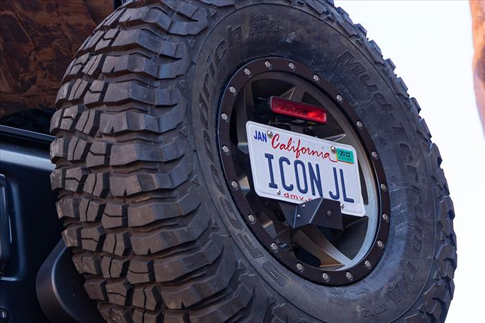 18-UP JEEP JL LICENSE PLATE RELOCATION KIT