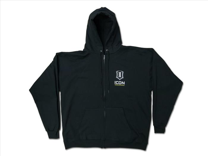 ICON STANDARD HOODY BLACK - XXLARGE