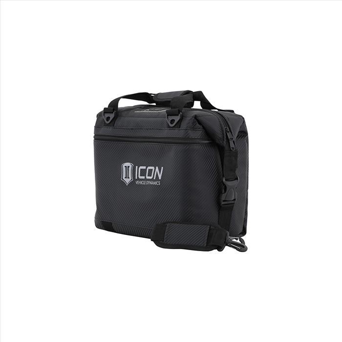 12PK CARBON AO COOLER W/STANDARD ICON LOGO