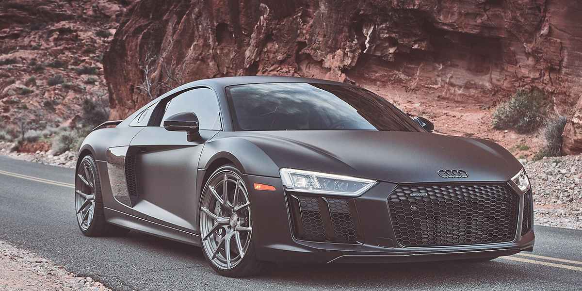 Audi R8 with Asanti Forged Wheels Monoblock 101