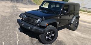 Jeep Wrangler JK with Vision Off Road 363 Razor