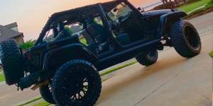 Jeep Wrangler JK with Vision Off Road 412 Rocker