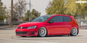 Volkswagen GTI with Rotiform BLQ-C